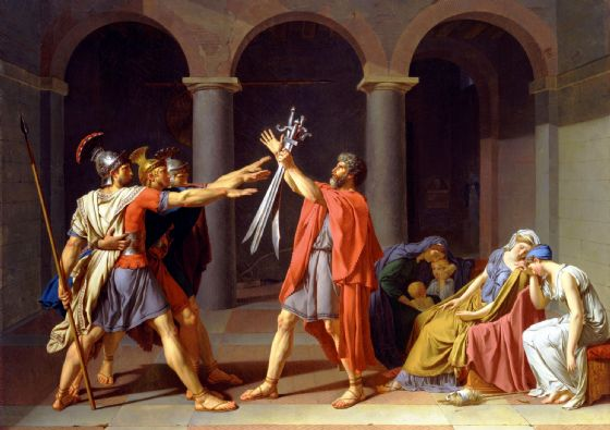 David, Jacques-Louis: Oath of the Horatii. Fine Art Print/Poster (5383)